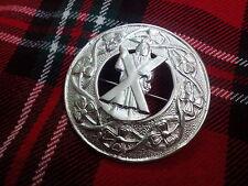 TC da uomo scozzese SPILLE patta Kilt a quadri St Andrew placcato argento/Plaid
