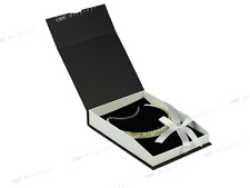(1) NECKLACE BOX BLACK JEWELRY BOX LARGE NECKLACE BOX SHOWCASE GIFT BOX HOT DEAL