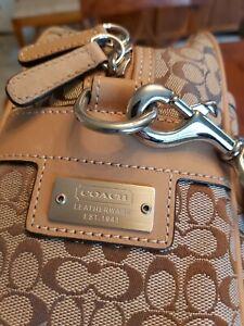 COACH - Holdall/ Laptop Bag / Case - Signature Canvas & Leather -Super Condition