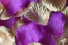 100 x violet et doré pétale de rose en soie mariage CONFETTI Décoration table GB