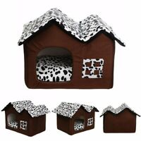 Flannelette Soft Dog Pet Cat Bed House Style Pet Bed Warm/Cosy Cave Pad