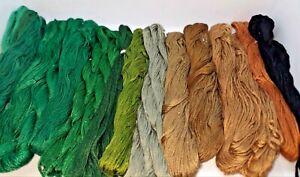 "Lot 15 VTG Soviet Cotton Cross Floss ""MULINE"" Stitch Thread Yarn Embroidery"