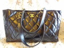 Authentic CHANEL CC LOGO MAXI GST Shopper Shoulder Bag Purse T280 CLASSIC!