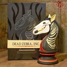 "ANDREW BELL The Last Knight Dead Zebra inc 8"" ART FIGURE Chess Piece 1ST EDITION"