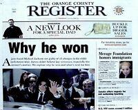 Michael Jackson Newspaper OC Register Why He Won 2005 MJ Thriller King Of Pop