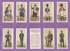MILITARY - SET OF 50 PLAYER'S ' UNIFORMS OF THE TERRITORIAL ARMY ' CARDS