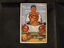 1951 BOWMAN DEL CRANDELL #20 BOSTON BRAVES BASEBALL CARD - UNGRADED - EXCELLENT!