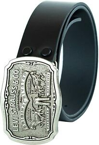 Levi's Men's Leather Belt With Antiqued Buckle