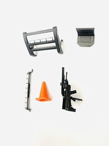 Push Bar / Laptop / Rear Light / Shotgun & Rifle Set 1/18 Scale For Police Cars