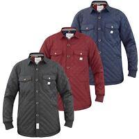 Mens Jack south Designer Quilted Lined Jacket Shower Proof Collar Coat