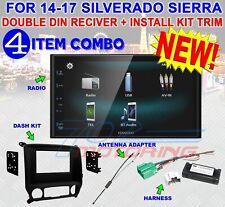 2014-2017 SILVERADO & SIERRA DOUBLE DIN BLUETOOTH USB CAR STEREO RADIO DMX125BT