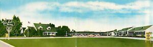 Vintage Fold Out Postcard Hal Mar Motel Delano CA Roadside unposted