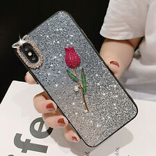 For iPhone 8 7 Plus XS MAX XR X Shockproof Rose Cute Girls Phone Cover Case