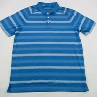 Oakley Mens Polo Shirt Blue Short Sleeve Large Performance Soft Golf Perry Park