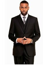 New Mens Suit 3 Piece Suit BLACK GREY NAVY RED GREEN GREY Business Suit wth Vest