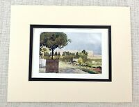 Antique French Print Versailles Place Garden Topiary  King Louis XIV Ca. 1906