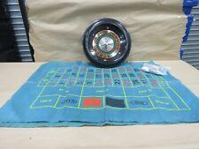 040- Vintage Las Vegas Frontier Hotel Roulette Wheel & Felt