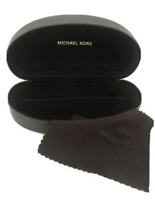 Michael Kors Sunglass ~ Eyeglass Hard XL Clamshell Case Dark Brown Chocolate NEW
