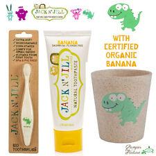 Jack n Jill Toothbrush + Toothpaste + Rinse Cup - Dino