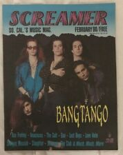 SCREAMER MAGAZINE - BANG TANGO - ACE FREHLEY - CULT- LOVE HATE GUN Feb 1990 #28