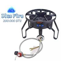 200,000 BTU Outdoor High Pressure Propane Gas Burner Stove Camping Grill Stove