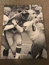 RARE RAY NITSCHKE Print Photo Vintage GREEN BAY PACKERS 1962 CHAMPIONSHIP GAME
