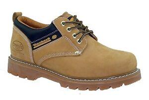Dockers Chaussures Homme Bottes en Cuir Chaussures Basses à Lacets Jaune Neuf
