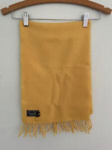 CHRISTIAN DIOR monsieur rare yellow vintage lambswool SCOTLAND scarf tassel