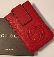 NWT GUCCI Men's 305996 TABASCO RED CELLARIUS LEATHER CREDIT CARD CASE WALLET