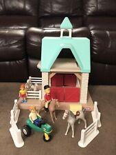 VTG Little Tikes Horse Stable Dollhouse Barn Play Set Horses Dolls Accessories
