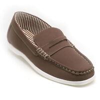 Clifford James Mens Gents Brown Lightweight Deck Slip On Shoes S155BR