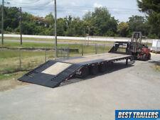2020 load trail gl30 used goosneck 15 ton equipment deckover trailer Hd bobcat
