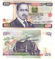 UNC Kenya 100 Shillings (1999) P-37d