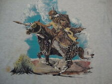 Vintage 90's Indian Native American Buffalo and Horse 1991 T Shirt Men's Size L