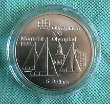 Montreal Olympics 1976 $5 Silver Coin - Sailboats 1973