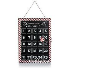 Winter Lane Countdown to Christmas Metal Calendar with Peppermint Magnet