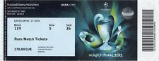 reproduction 2012 CHELSEA BAYERN MUNICH champions lge final PERSONALISED ticket