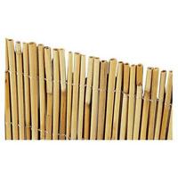 Arella frangivista 3x5 mt in cannette di bamboo legate con nylon da giardino