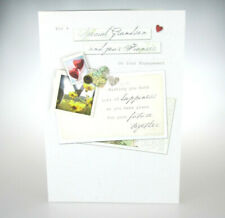 For a Special Grandson and your Fiancée On Your Engagement. Congratulations Card