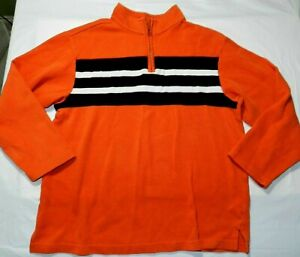 BOYS long sleeve sweater CRAZY 8 size 14 XL orange pullover (ch13)