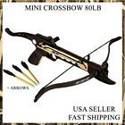 HUNTING 80LB ARCHERY Gun SELF COCKING PISTOL CROSSBOW W/ ARROWS BOLTS XBOW NEW