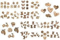 Novelty Wooden Craft Buttons - Trimits - Assorted Designs - Mixed Size 5/6 Pack