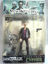 THE MATRIX / CYPHER FIGURE WITH ACCESSORIES / 1999 WARNER BROS / N2 / SEALED