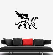 Wall Decal Panther Leopard Jaguar Wings Animal Wild Cat Griffin Sticker (ed614)