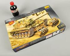 Military Assembled Model 1:35 Armoured Tank - Israel M60A1 Mine-clearance Tank