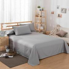 1 Pc Bedding Sheet Home textile Printing Solid Color Flat Sheets Bed Sheet Beddi
