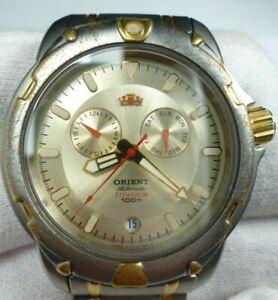 ORIENT Titanium Sapphire Calendar Automat 21 jewels RARE Japan Men Wrist Watch