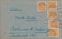 Inflation:  Brief von  Nörten nach Bochum 11.1.1923