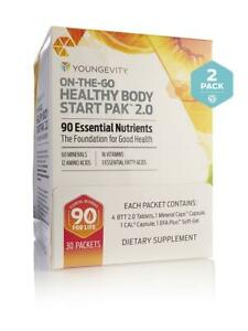 Youngevity Sirius OTG Healthy Body Start Pak 2.0 2 boxes 30 ct Free Shipping