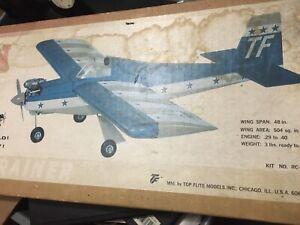 1977 Top Flite Freshman Trainer Unbuilt Balsa Airplane Model Kit
